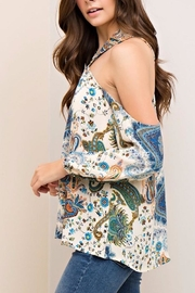 People Outfitter Limelight Paisley Top - Back cropped