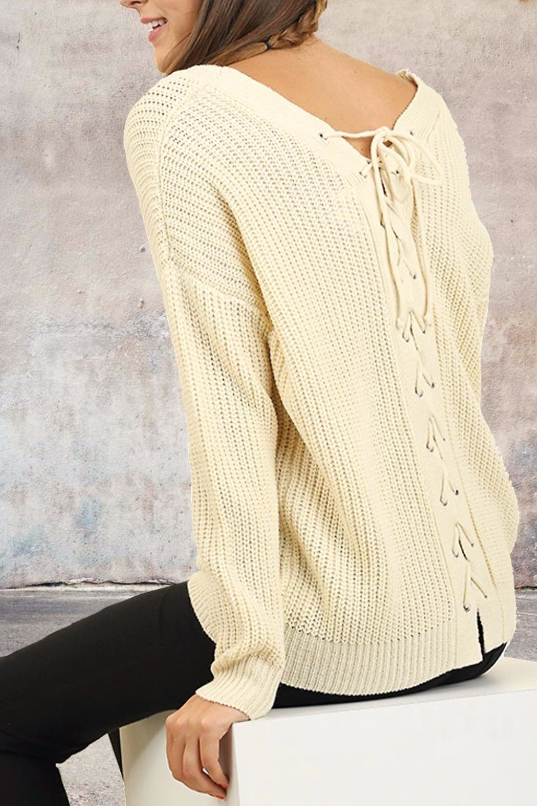 People Outfitter Tie Back Sweater - Main Image