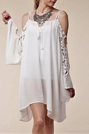 People Outfitter Lace Sleeve Cold Shoulder Dress - Product Mini Image