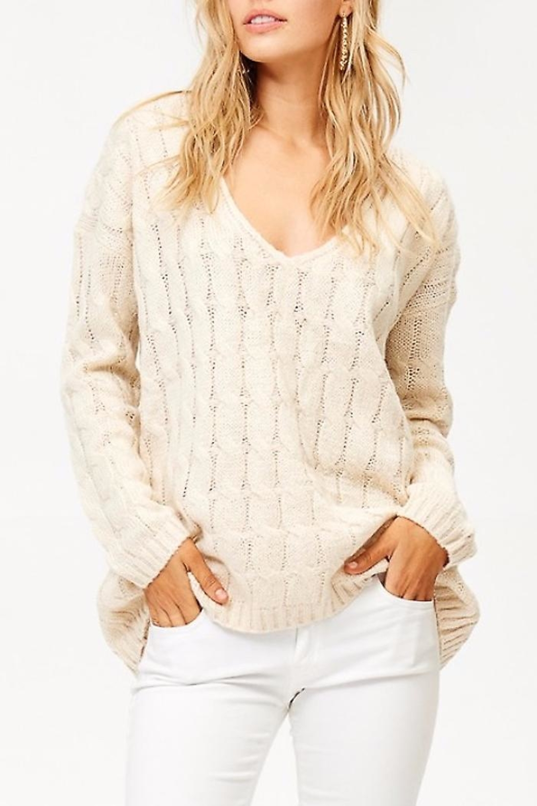 People Outfitter v-Neck Knit Sweater - Main Image