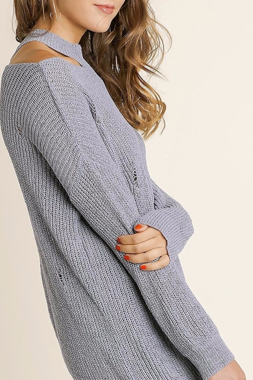 People Outfitter Vintage Knit Sweater - Front Full Image