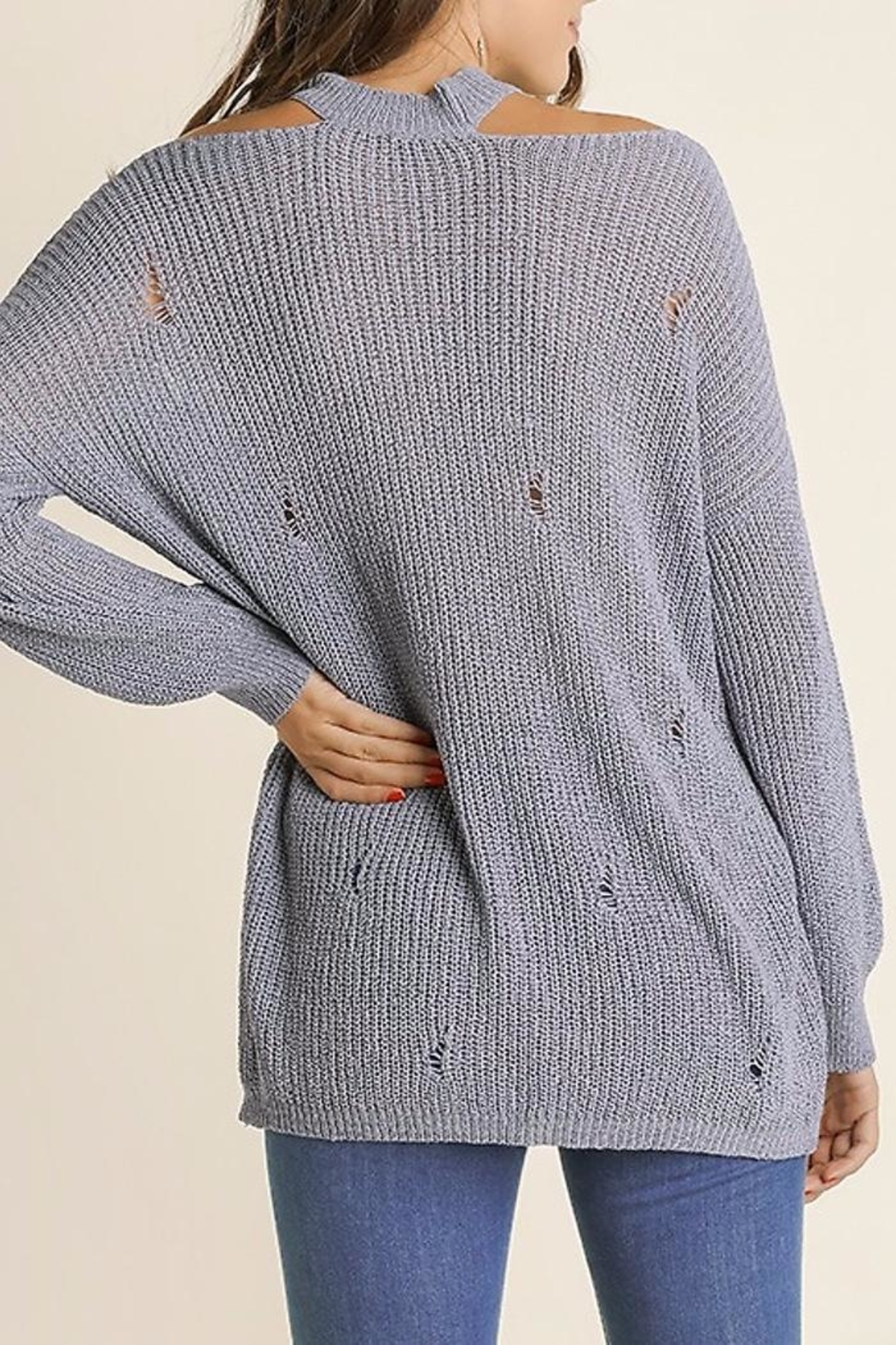 People Outfitter Vintage Knit Sweater - Side Cropped Image
