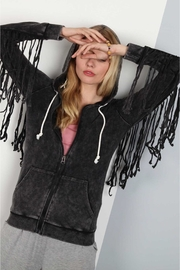 People Outfitter Vintage Washed Fringed Pullover - Product Mini Image
