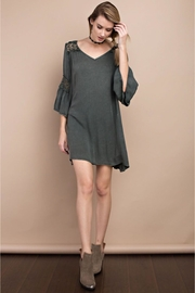 People Outfitter Vintage-Washed Olive Dress - Product Mini Image