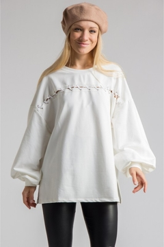 People Outfitter White Bishop Sleeves Tunic Top - Product List Image