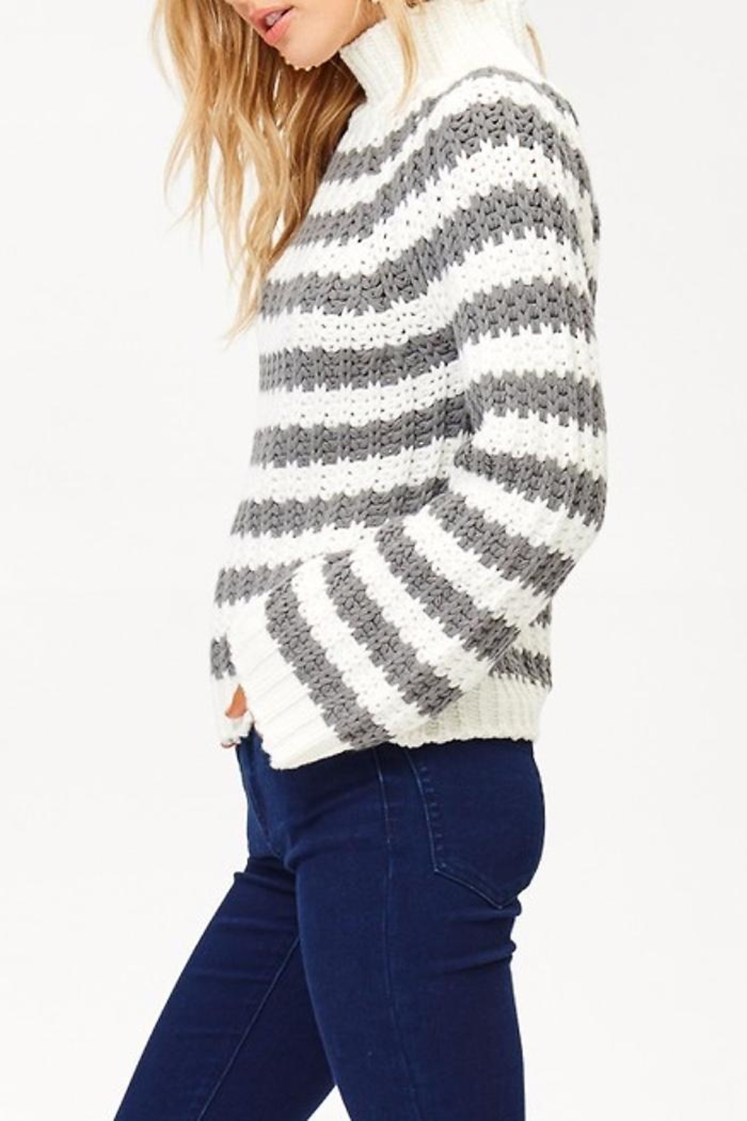 People Outfitter Wild Cat Sweater - Front Full Image