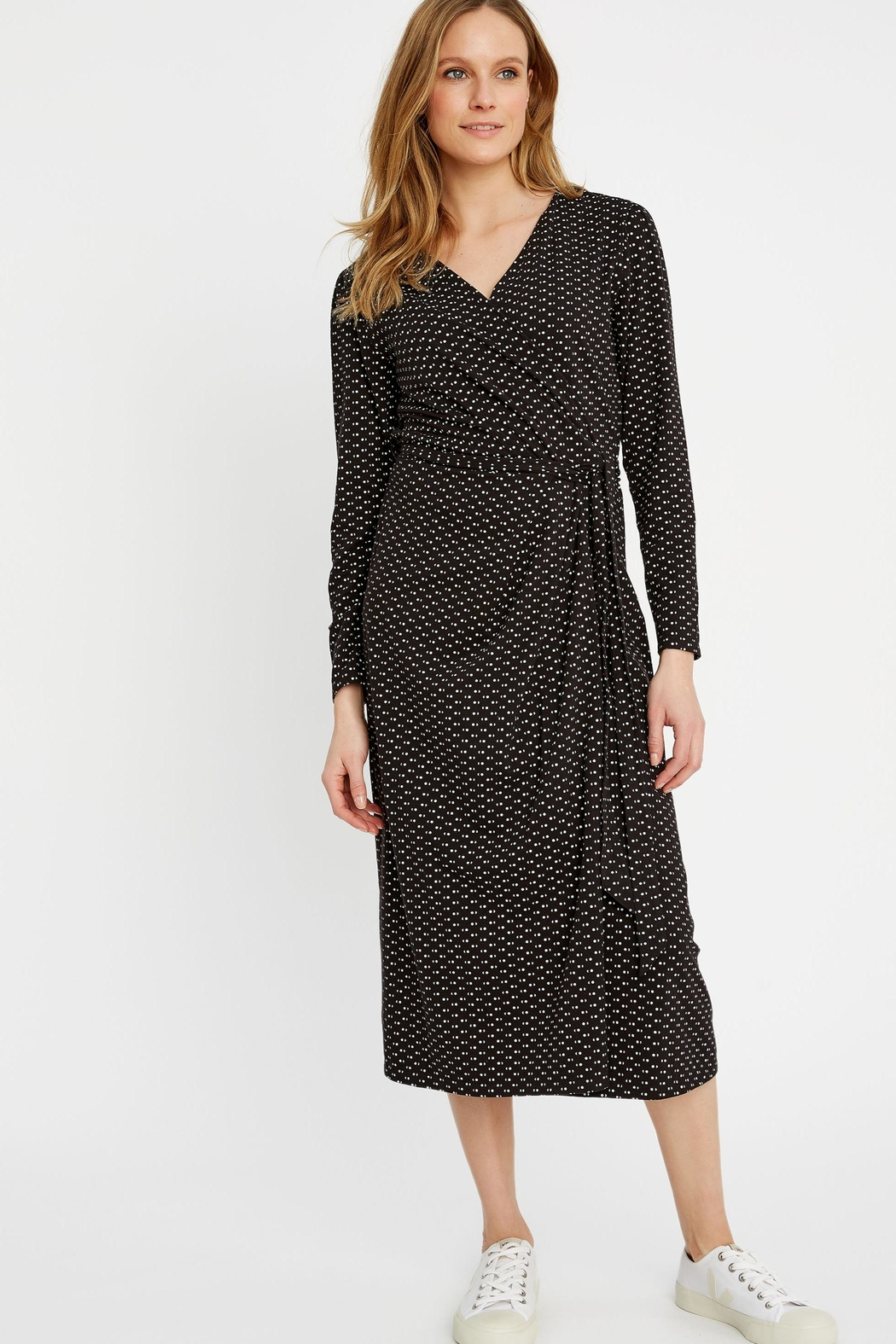 People Tree Imogen Wrap Dress - Front Full Image