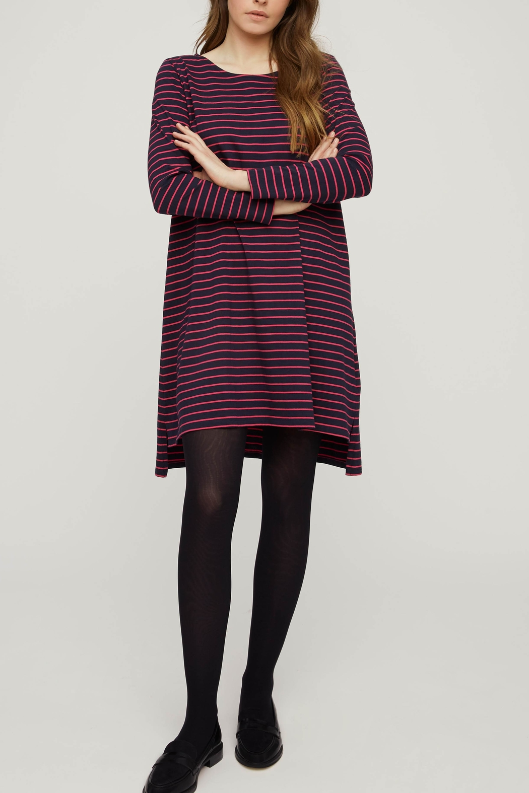 People Tree Striped Tunic - Front Full Image