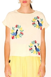 PepaLoves Bird Embroidered Top - Product Mini Image