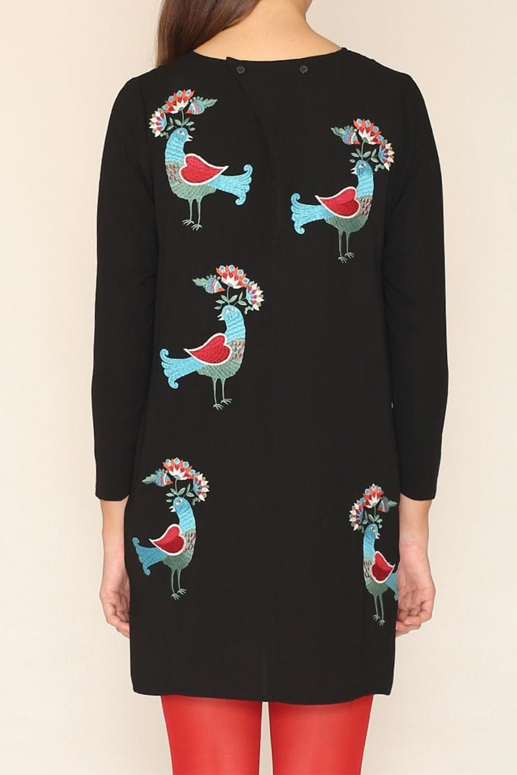 PepaLoves Birds Embellished Dress - Front Full Image