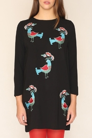 PepaLoves Birds Embellished Dress - Front cropped