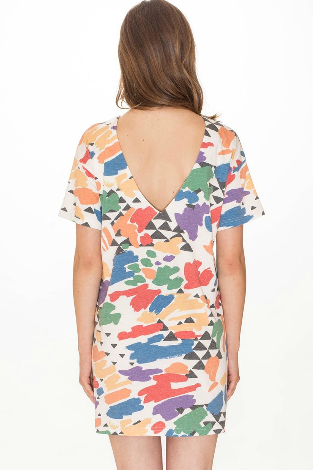 PepaLoves Brush Strokes Dress - Front Full Image