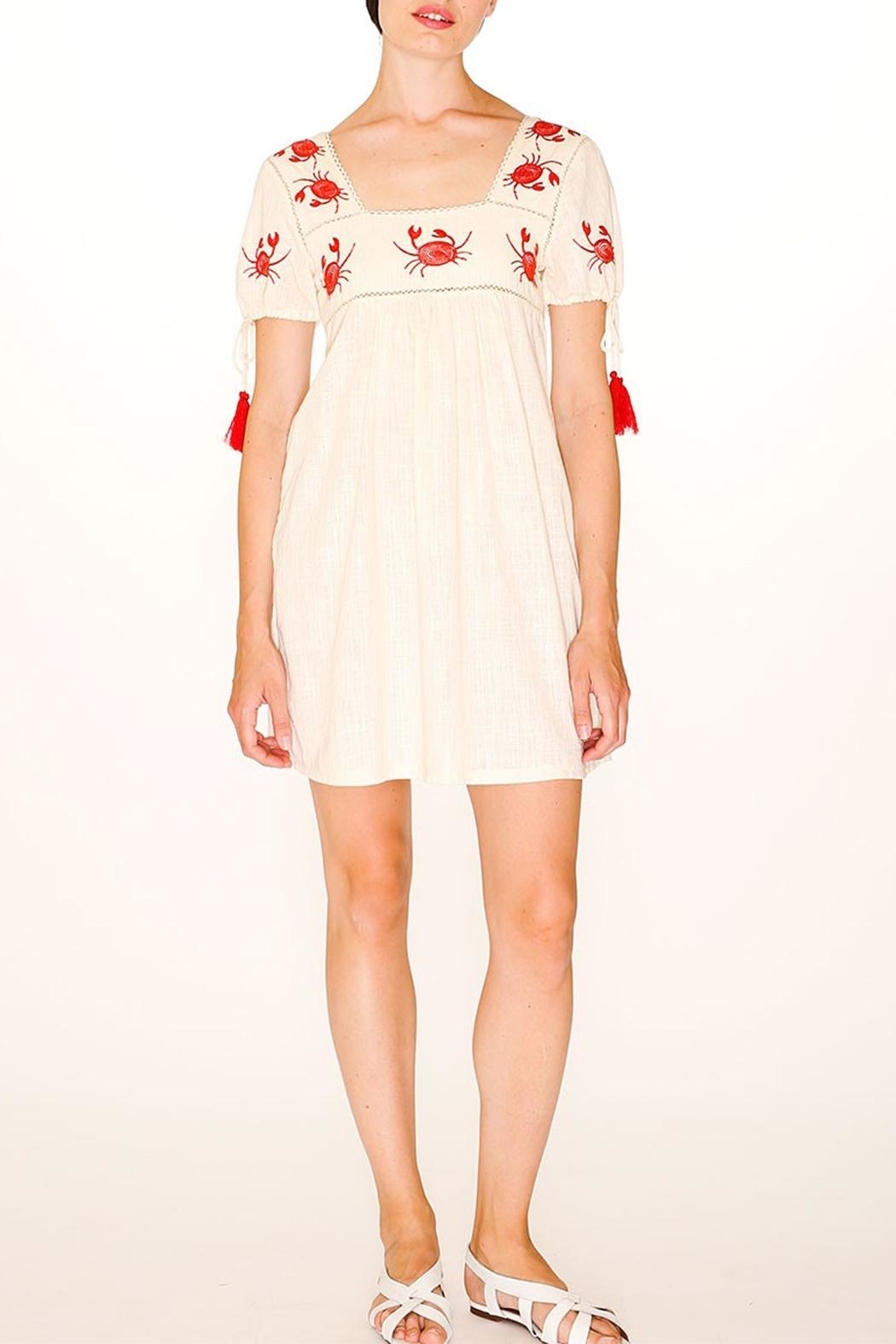 PepaLoves Crab Embroidered Dress - Back Cropped Image