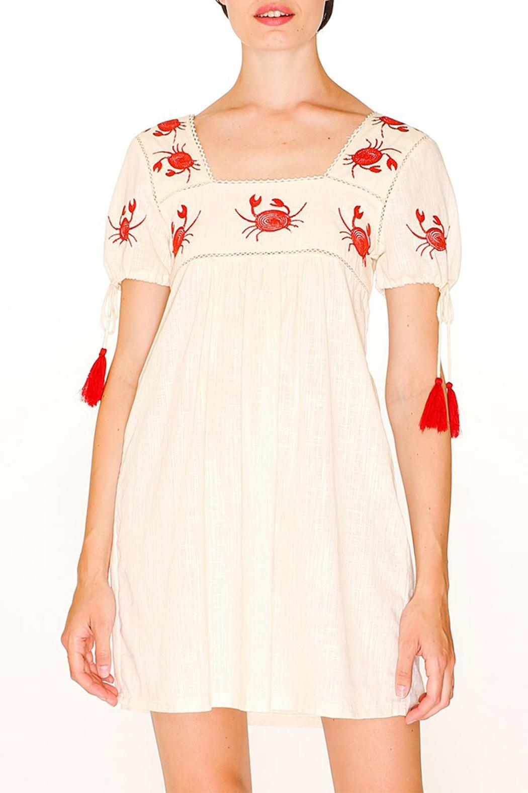 PepaLoves Crab Embroidered Dress - Main Image