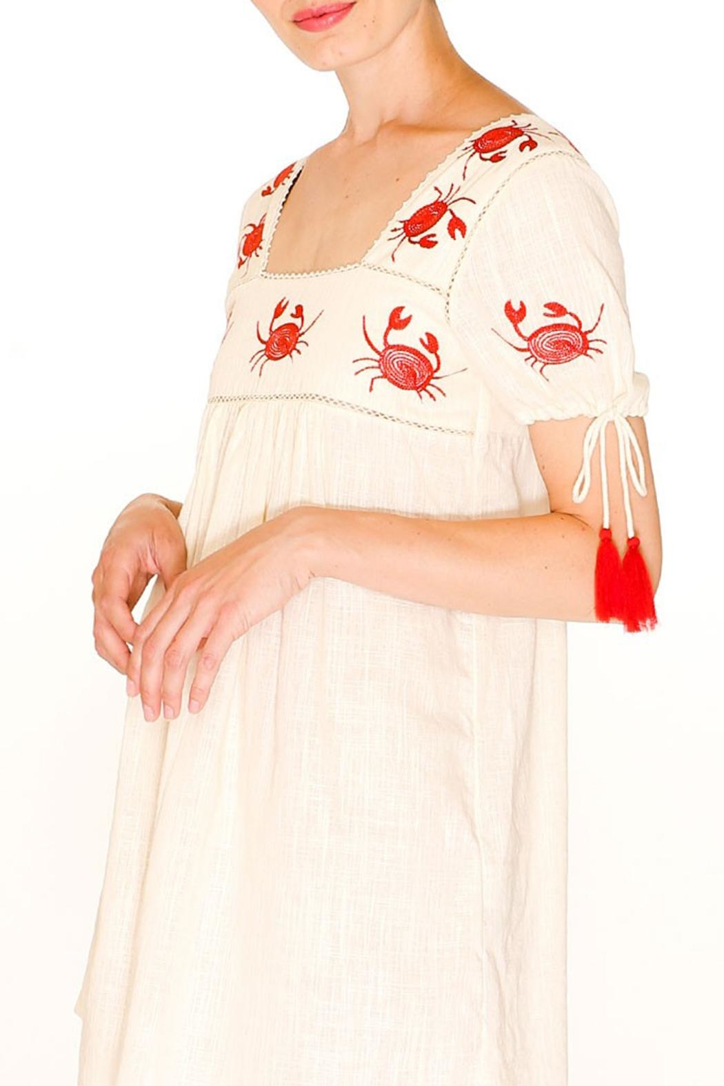 PepaLoves Crab Embroidered Dress - Side Cropped Image