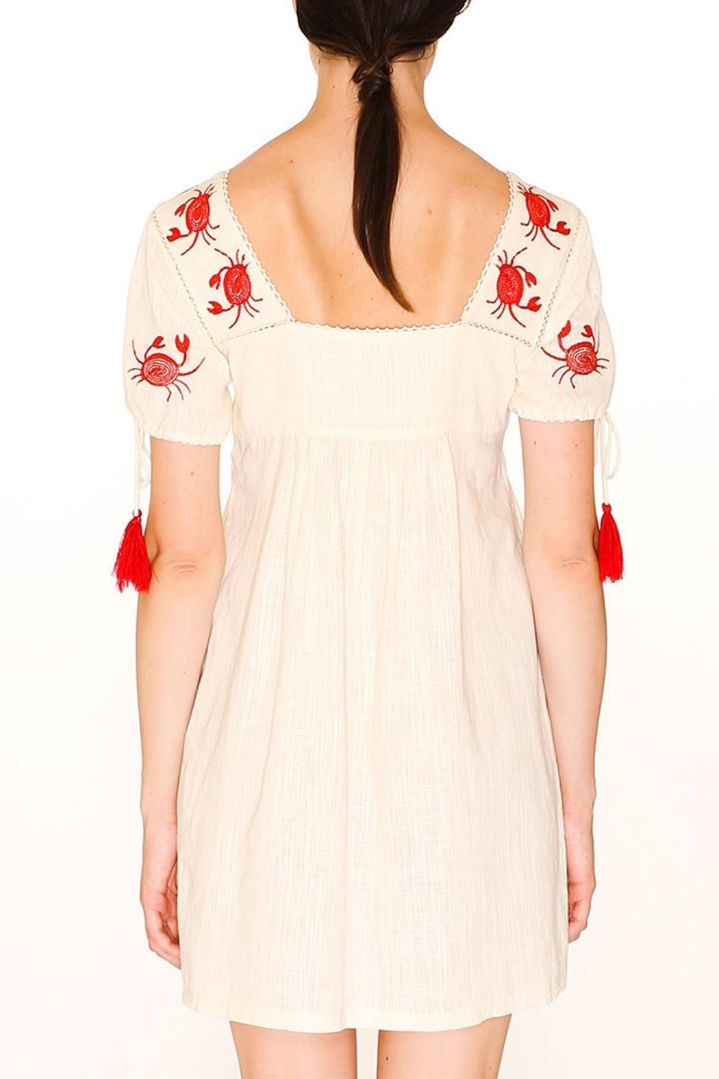 PepaLoves Crab Embroidered Dress - Front Full Image