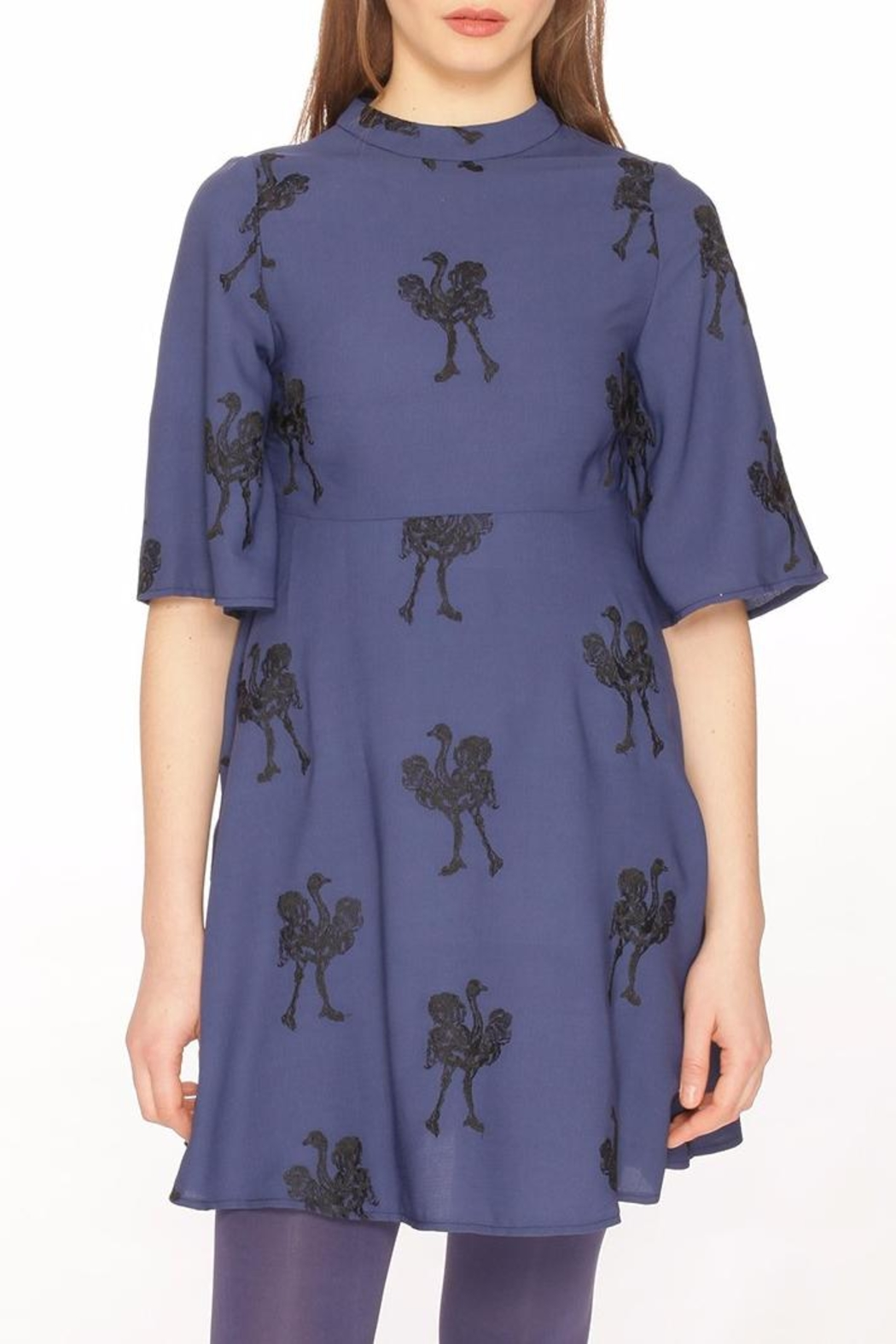 PepaLoves Embroidered Ostrich Dress - Main Image