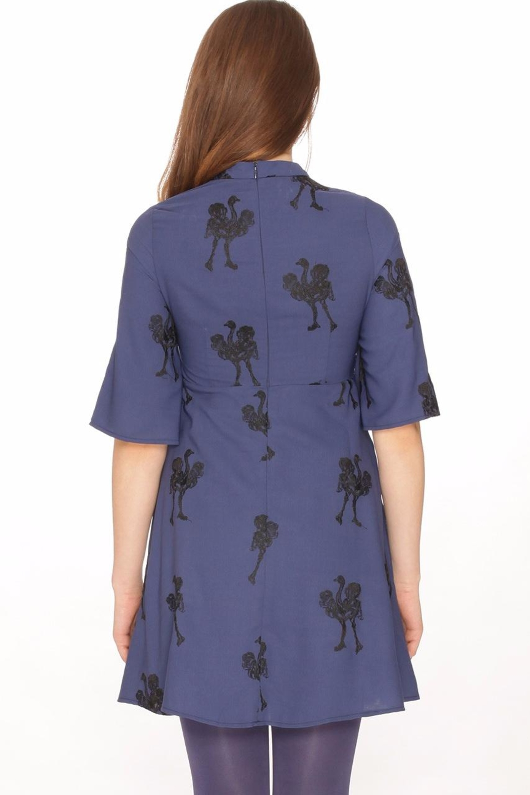 PepaLoves Embroidered Ostrich Dress - Front Full Image