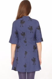 PepaLoves Embroidered Ostrich Dress - Front full body