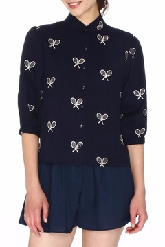PepaLoves Embroidered Racket Blouse - Product List Image