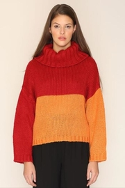 PepaLoves Strawberry Orange Sweater - Front cropped