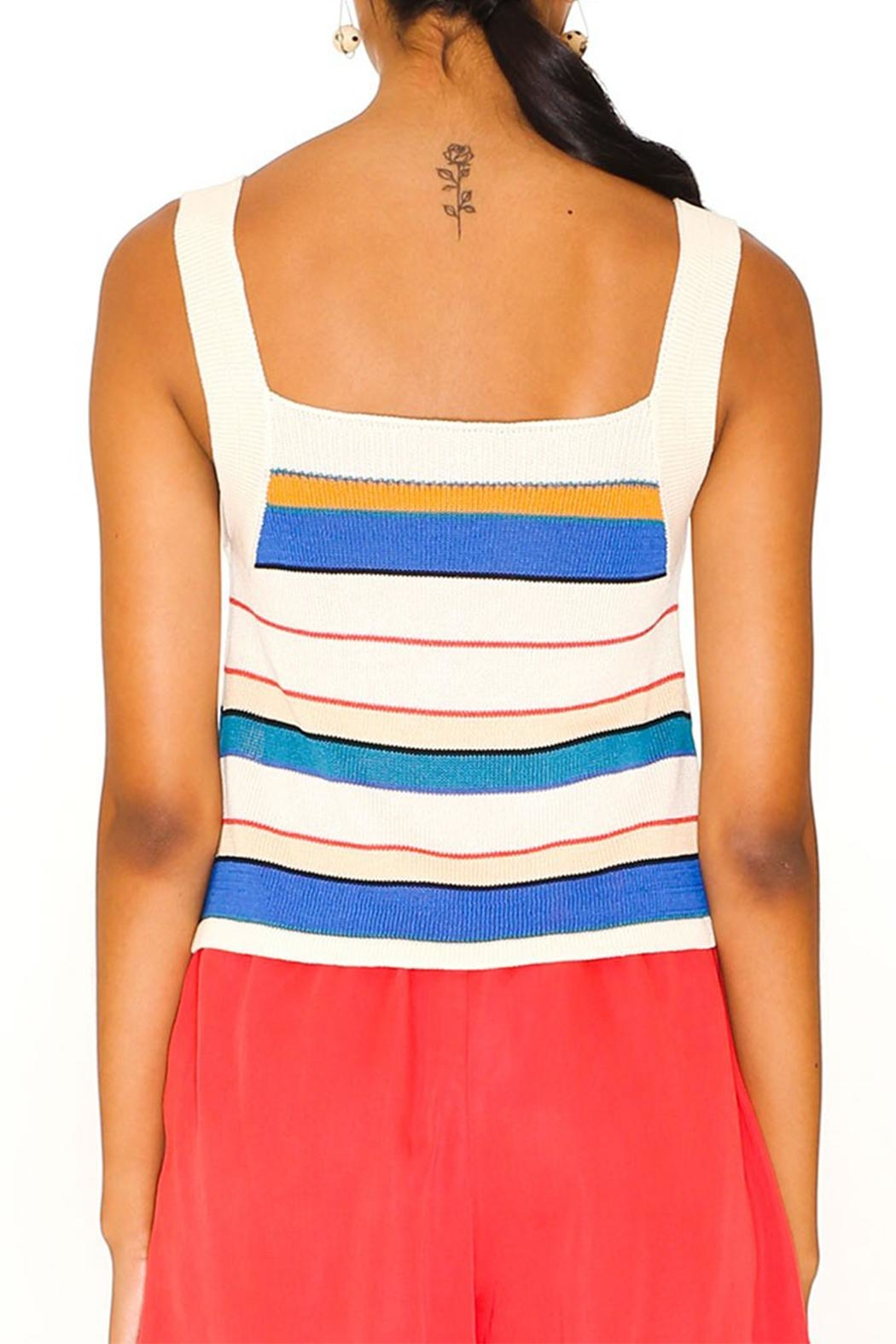 PepaLoves Stripe Knitted Tank - Side Cropped Image