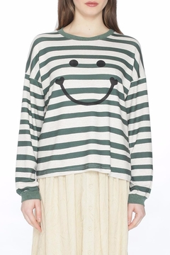 PepaLoves Striped Smiley Top - Product List Image