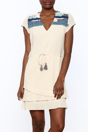 pepin Cream Embroidered Dress - Product Mini Image