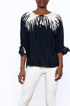 pepin Navy Flame Blouse - Product List Image