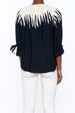 pepin Navy Flame Blouse - Alternate List Image