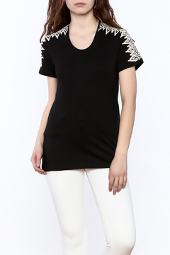 pepin Black Embroidered Top - Product List Image