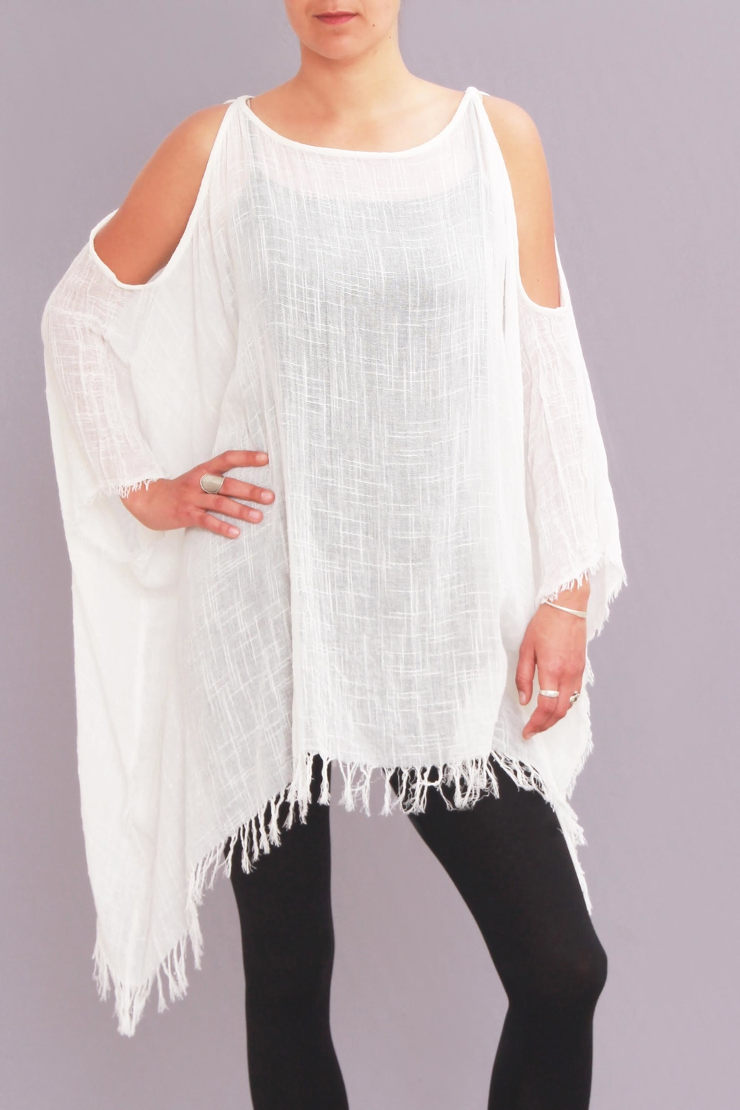 Pepita's Magic of the Moon Gauze Open Shoulder Top - Front Cropped Image