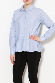 Fred & Sibel Peplum Button Down Blouse - Product Mini Image