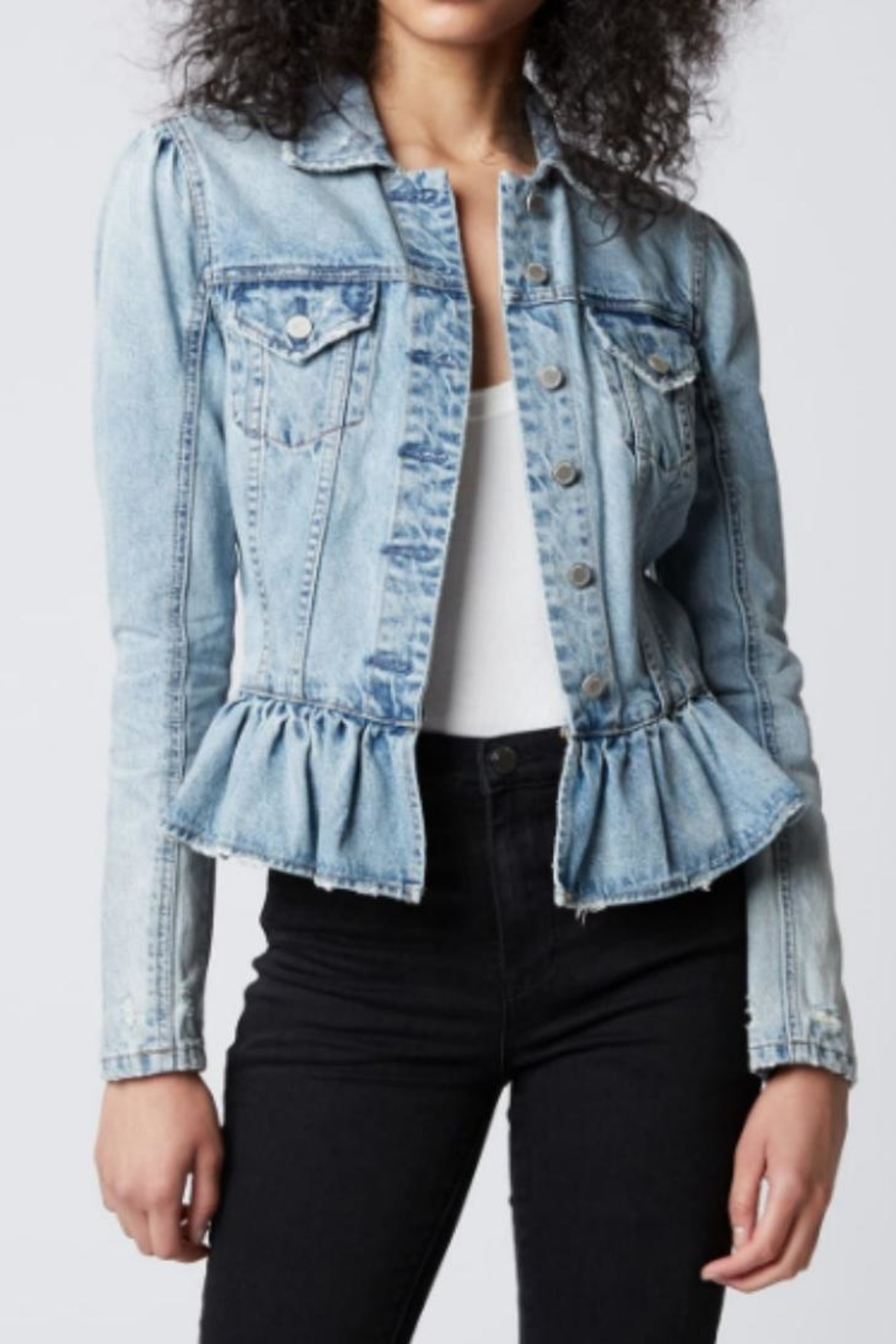 top-rated newest buying new professional sale BlankNYC Peplum Denim Jacket from Michigan by Sparrow ...