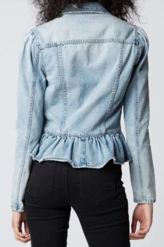 BlankNYC Peplum Denim Jacket - Alternate List Image