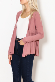 Sadie & Sage Peplum Knit Cardigan - Product Mini Image