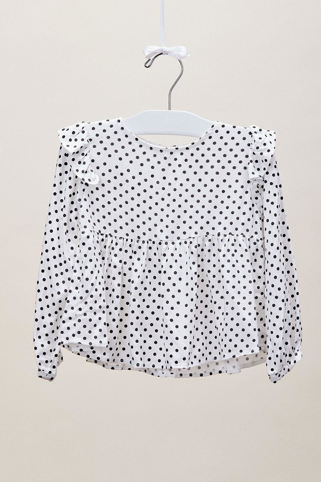 Lil Lemons Pepper Dot Blouse - Front Full Image