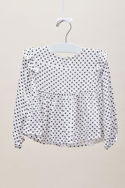 Lil Lemons Pepper Dot Blouse - Front full body
