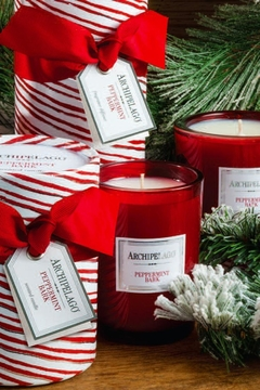 Shoptiques Product: Peppermint Bark Gift-Boxed-Candle