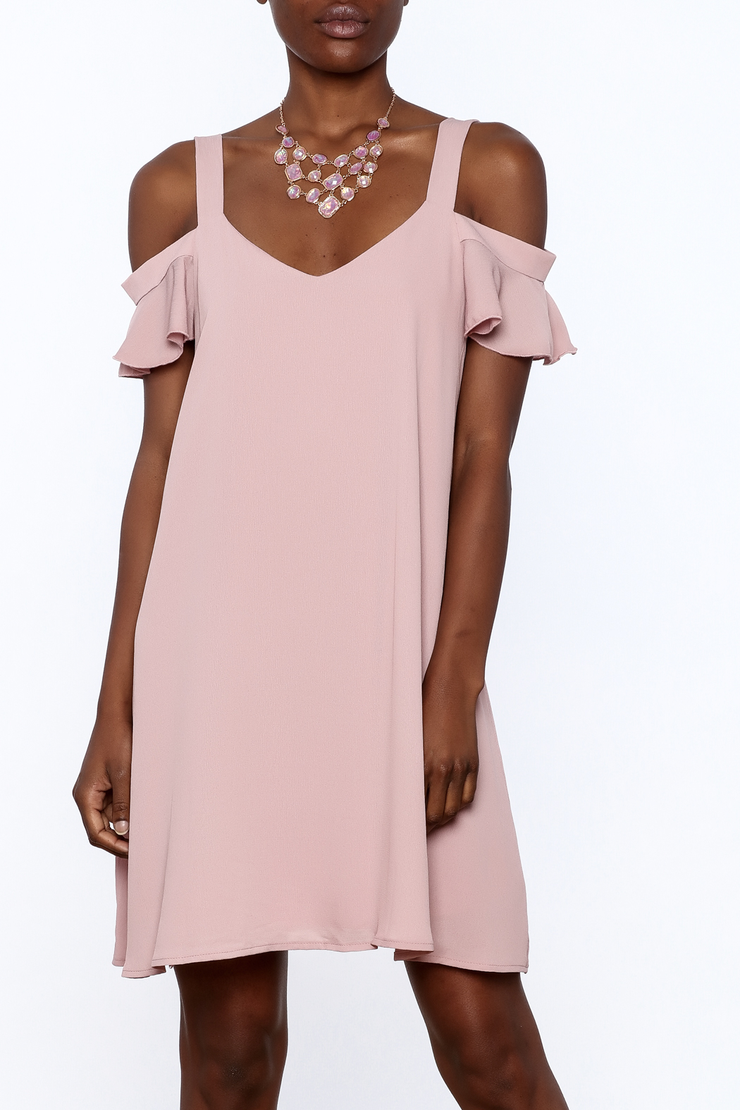 Peppermint Mauve Shift Dress - Front Cropped Image