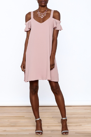 Peppermint Mauve Shift Dress - Front full body
