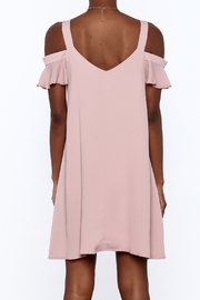 Peppermint Mauve Shift Dress - Back cropped