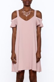Peppermint Mauve Shift Dress - Side cropped