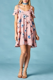Peppermint Floral Cold-Shoulder Dress - Product Mini Image