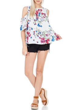 Peppermint Floral Cold Shoulder Top - Product List Image