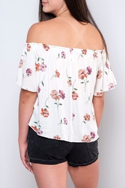 Peppermint Floral Off-Shoulder Top - Side cropped