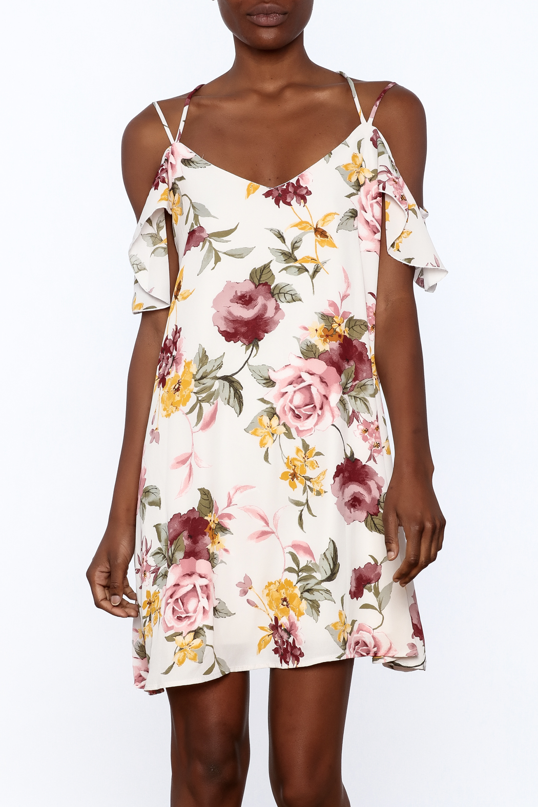 Peppermint Floral Shift Dress - Main Image