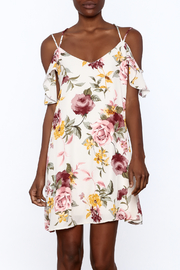 Peppermint Floral Shift Dress - Front cropped