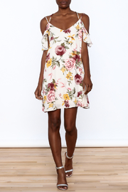 Peppermint Floral Shift Dress - Front full body