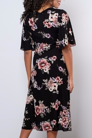 Peppermint Floral Wrap Dress - Back cropped